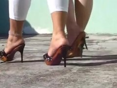 Mules High Heels Outdor