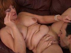 HOT OLD MILF WORKS OUT PAYMENT PLAN WITH BIG COCK