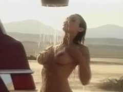 Playboy nude celebs from bikini Tours girl takes a shower in Beach