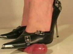 Black shoes cock crush 3
