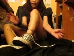 Teen Shows Her Stinky Feet And Talks About The Smell