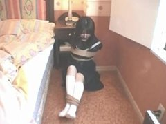 Japanese school girl tape gagged-2