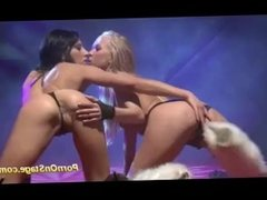 lesbian porn on public stage