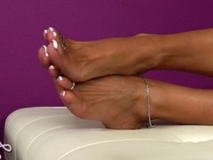 Tanned Feet & Legs with Pretty Toes