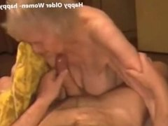 Cumming in face of very old granny