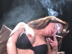 SmokeyMouths Jade Summers smoking masturbation