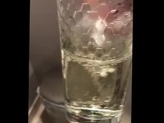 Taking a piss in a glass part 1