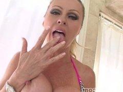Busty Big Tit MILF Cougar DYANNA LAUREN Huge Cock Blowjob and Facial! A++