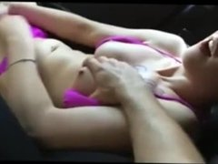 Amateur Masturbating in Car Free In Car
