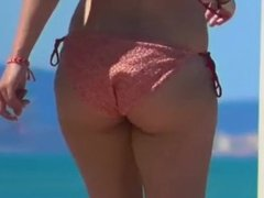 Candid Thick PAWG Bikini Walking