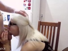Webcam couple deep blowjob in the kitchen