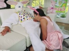 Easter bunny caught