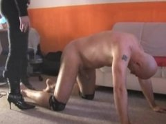 Ballbusting and cock crushing by 2 beautiful mistress
