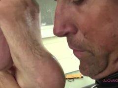 Dirty feet slave