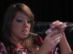 SmokeyMouths Cate Harrington smoking masturbation