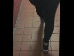 See through black bodysuit walking in public