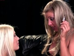 Karen Wood & Michelle B - Dominates her Female Slave with her Smoke and Spi
