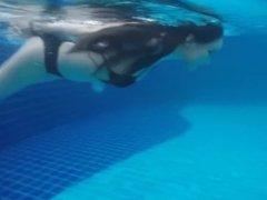 sexy asian girl swimming (non-nude)