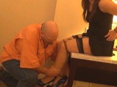 Girl boss tied up