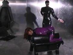 domina fucks her slave -- www.latex-bdsm.net
