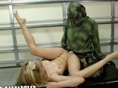 Alli Rae - Swamp monster attack (actors, fantasy)