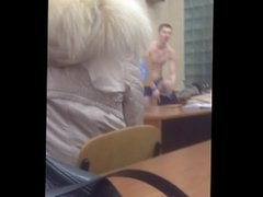 Russian guy undressing while reading Kipling poem