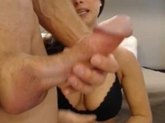 Big White Cock on Webcam (Who Is She?)