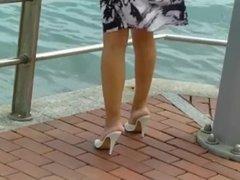 13 cm Weisse Pantos Am Strand Von Las Palmas
