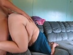 Thick Bitch Get It Rough In Pussy & Creampie Inside Of On Couch