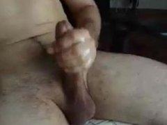 Long thick dick blows a big load