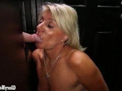 Older grandma Gilf sucking off younger guys in gloryohle