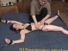 Cute Pixie Tied to Bed and Tickled