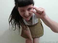 Schoolgirl tease verbal humiliation, Ivy's body worship and spanking