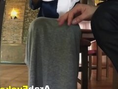 Hijab Arab Pays For Hostel Stay By Fucking Big White Cock