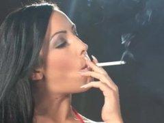 Nina Leigh - Smoking 120s in See Through Bra
