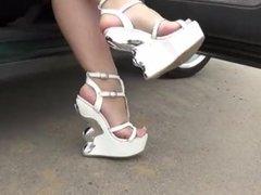 Metal Wedge Sandals