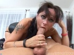 MOXXIE MADRON Huge Cock DEEPTHROAT Blowjob and Facial! WOW! MUST SEE! A+