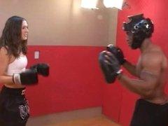 MMA girl mixed fight