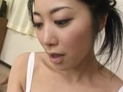 Gorgeous Asian nurse giving a stunning blowjob till she gets a facial cumsh