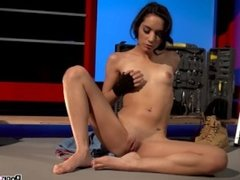 Tia Cyrus Watch this sexy young teen mechanic take off her work clothes