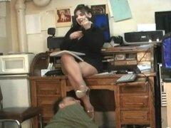 Cleaning Secretary's heels