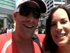 pro slut Dana DeArmond and me cruising Hollywood Blvd