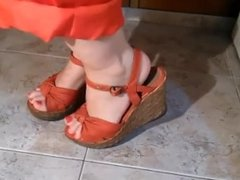 Shoeplay In Wedge Sandals