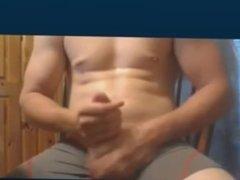 Hot stoner hunk jerking off on webcam