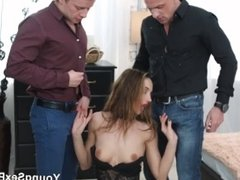 Young Sex Parties - Double-team party with Hazel