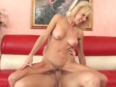 Big Tit Cougar ERICA LAUREN Rides Young Studs Big cock