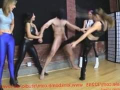 four-girl-ballbusting and buttbombs featuring the amazing sasha-fox