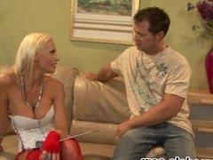 Big Tits Blonde Whore TANYA JAMES Fucked and Gets Cum on Tits Reward! A++