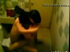 asian couple caught fucking in bathroom