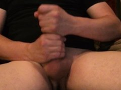 Male solo jerking off with huge cumshot